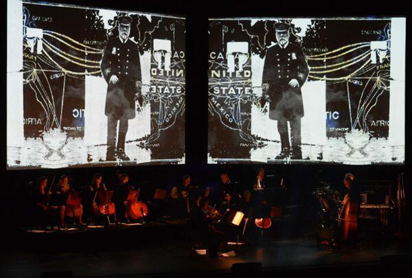 "Gaving Bryars and his ensemble performing ""The Sinking of the Titanic"" at Barbican Centre - Photo http://www.gavinbryars.com"