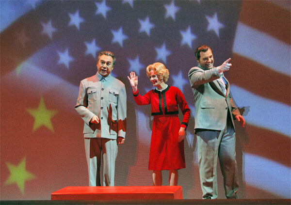 Chen Ye Yuan-(Chou-En-lai), Maria Kanyova (Pat-Nixon) and Brian Mulligan (Richard Nixon) - Photo by Cory Weaver