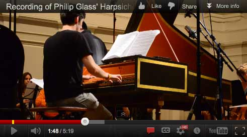 Recording of Philip Glass' Harpsichord Concerto [Video]