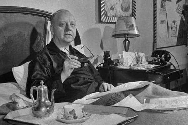 Virgil Thomson sitting in his bed, New York, NY (1947) - Photograph by  W. Eugene Smith (LIFE)