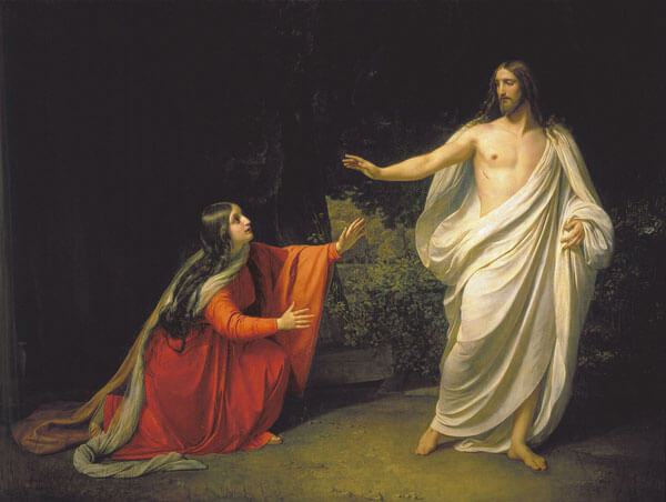 """""""The Appearance of Christ to Mary Magdalene"""" by Alexander Ivanov (oil on canvas, c. 1835, Russian Museum St. Petersburg)"""
