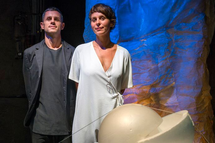 Architect Adam Fure and Composer Ashley Fure, creators of The Force of Things, at Lincoln Center's 2018 Mostly Mozart Festival