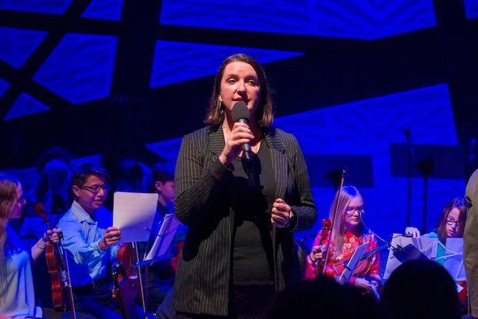 Kate Sheeran introduces Face the Music at National Sawdust--Photo by Richard Termine