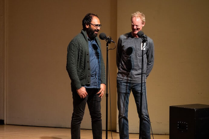 Qasim Naqvi and John Schaefer--Photo by David Andrako