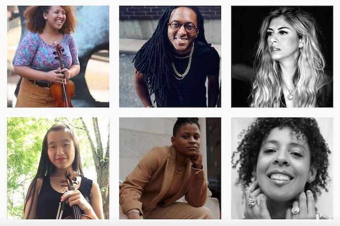 Colors of Classical Music features: Bethlehem Hadgu, Garrett McQueen, Carla Canales, Anika Meisel, Robyn Smith, and Kamilla Arku